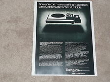 Technics SL-1000mkII Ultimate Turntable Ad, 1978, Info, 1 page, ready to frame