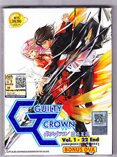 *NEW* GUILTY CROWN *22 EPISODES PLUS OVA*ENGLISH SUBTITLES*ANIME DVD*US SELLER*