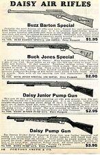 1936 Print Ad of Daisy Buzz Barton Buck Jones & Junior Pump Air Rifle BB Gun