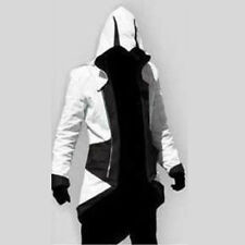 Assassins Creed 3 III Costume Connor Kenway Hoodie Jacket Coat Cosplay  Lot Gift