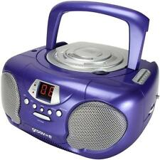 Groov-e GVPS713 Classic Boombox Portable CD Player with AM/FM Radio Purple - New