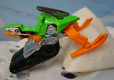 2014 STUNT CIRCUIT Design SNOW RIDE❊Green/Orange mobile;03 HWTF❊LOOSE❊HotWheels