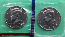 1999 P & D Kennedy Half Dollar Coins from US Mint Set 2 BU Cello Fifty Cent UNC