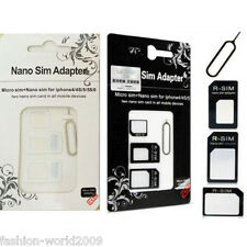 10 x4 IN1 NANO TO MICRO/ Standard SIM Card Adapter For IPHONE Various Cell PHONE