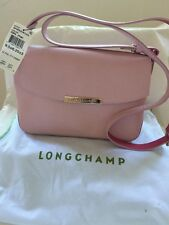 Authentic Longchamp Le Foul City Cross-body Pink Leather Bag