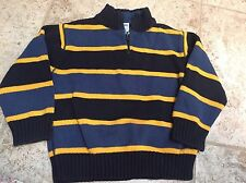 EUC Gymboree Blue Striped Sweater 3T Christmas Holiday
