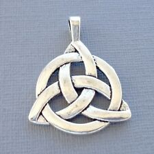 One Pendant Celtic Knot Charm Dangle Silver tone Jewelry findings DIY K5
