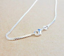 "Wholesale 30""1PCS Fashion Jewelry 925 Silver Box Chain Necklaces For Pendants"