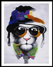 A1 poster for glass  frame Banksy Street Art Print PUSSY CAT MAFIA  PAINTING