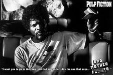 Pulp Fiction MOVIE POSTER Bad Mother F**ker Samuel L. Jackson NEW Licensed