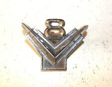 1950's FORD V8 FRONT FENDER EMBLEM BM16237-A MOPAR ANTIQUE AUTO CAR TRUCK