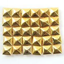 Wholesale 100pcs Square Pyramid Rivet Metal Studs Spots Spikes Leathercraft DIY