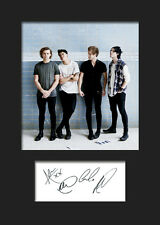FIVE SECONDS OF SUMMER 5SOS #1 A5 Signed Mounted Photo Print (Reprint) - FREE DE