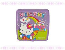 1 BRAND NEW HELLO KITTY TUPPERWARE KIDS LUNCH SANDWICH KEEPER CONTAINER PURPLE