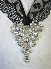 "2""  **RHINESTONE** USE AS BROOCH or PENDANT"