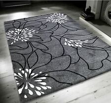 New Blossom Grey Black White Extra Large Quality Home Rug 160x230cm RRP £109.99