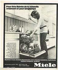 PUBLICITE ADVERTISING 095  1973  Le lave vaisselle  MIELE