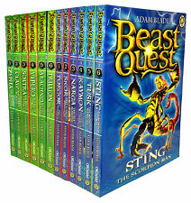 Beast Quest Series 2 and 3 Collection Adam Blade 12 Books Set Vol 7 to 18 NEW PB