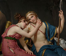 Farewell of Telemachus and Eucharis Jacques-Louis David Mythologie B A3 02355