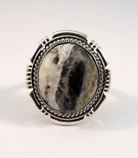 Navajo Sterling Silver Handmade White Buffalo Turquoise Ring - Harley Jake