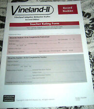 Vineland-II Teacher Rating Form / Record Booklet