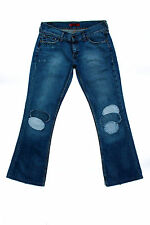 Levis 559 Marissa Square Bootcut frayed Blue Jeans Denim Patchworks W32 L31 UK14