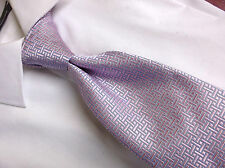 "Brooks Brothers  Purple White Blue Silk Necktie 4"" W/ 60 L"