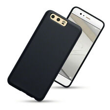 Thin Rubber Jelly Case for Huawei P10 - Black Matte