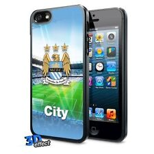Official Merchandise Manchester City FC 3D iPhone 5/ 5S Hard Case- Support Team