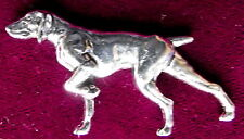 Pewter German Shorthaired Pointer Gundog Brooch Pin