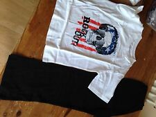 Boys Pyjamas With Skull Picture Long Bottoms Tshirt Top 6/7year Old