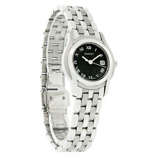 Gucci 5500 Ladies Black & White Dial Stainless Steel Swiss Quartz Watch YA055503