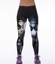 "Stretch! Girls Halloween Costume ""Corpse Bride"" Print Stretch Leggings Pants"