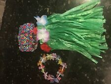 Hula luau skirt and lei for American Girl doll