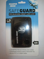 Sharper Image SECURITY WALLET SLIM WATER RESISTANT ALUMINUM IDENTITY THEFT Black