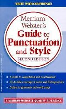 Merriam-Webster's Guide to Punctuation and Style, Merriam-Webster, Good Conditio