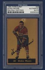 1960-61 PARKHURST #38 Dickie Moore PSA/DNA Certified Authentic AUTO !!