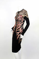 ALEXANDER MCQUEEN FINAL COLLECTION ANGELS AND DEMONS HELLS KNIT WOOL SILK DRESS