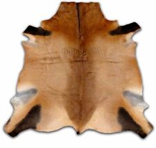 Red Hartebeest Antelope buckskin cheap small cowhide rug larger than goat skin