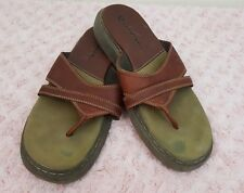 Airwalk Sandals Men's Flip Flops Leather Brown Size 10 Very good used condition
