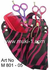 Salon New Hairdressing Scissor Tools Pouch Salon / Holster Magenta and Black
