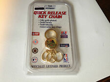 NBA PISTONS 24k Gold Plated Quick Release Key Chain w/ Removable Rings
