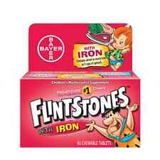 Flintstones Chewable Tablets With Iron 60 Tablets (Pack of 4)