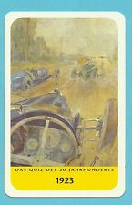 Motor Car Racing 1923 Le Mans -  Cool Collector Card Europe Look!