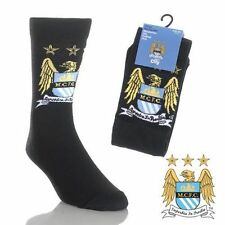 3 Pairs Manchester City FC Official Boys Socks Size 4 - 6.5. Fab gift idea.