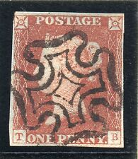 QV 1841 sg 7  penny red from black plate 2 ( T B ) fine black MX pmk.