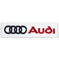 AUDI Embroidered Patch Embroidery Racing Emblem Mark 103x27mm White
