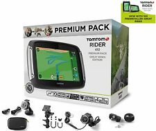 TomTom RIDER 410 PREMIUM Motorcycle GPS SATNAV Lifetime World Map Speed Cameras