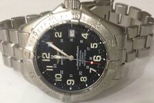 "Breitling ""Super Ocean"" Automatic 1524m/5000ft Diver Watch Black Dial A17345"