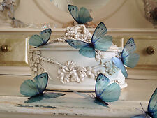8 Teal Blue 3D Butterflies Butterfly Picture Frame Home Wall Wedding Decorations